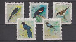 Salvador 1991 Oiseaux 1125-29 5 Val ** MNH - El Salvador