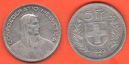 5 Francs 1923 Franchi Svizzera Switzerland Schweiz Suisse Helvetica - Suiza