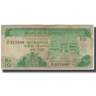 Billet, Mauritius, 10 Rupees, KM:35a, B - Mauricio