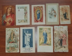 Lot De 9 Images Et Marques Page RELIGIEUSES - Toutes Périodes - Voir Détails - Andachtsbilder