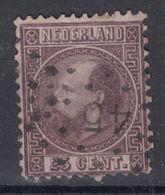 NEDERLAND   1867  25 C   PUNTSTEMPEL  45 - Used Stamps