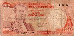 COLOMBIA 100 PESOS ORO 1988 P-426 Circ. - Colombia