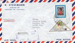 VENEZUELA - AIRMAIL/RECO 1973 CARACAS - VIENNA/AT /T210 - Venezuela