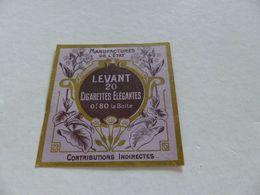 B-78 , Etiquette Cigarettes, Tabacs  , LEVANT ,20 Cigarettes élégantes, 0F80  La Boite - Around Cigarettes