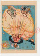 Gravure Presse 1949 Format 25 X 17 Cm Humour Nucléaire Energie Explosion Bombe Atomique ?? Tour Eiffel Cosmos 229CH24 - Vieux Papiers