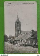 Lituanie, Kielmy, Kirche Strasse Mit Kirche. Feldpoststation Nr170 , 1915 - Lituanie