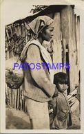 136667 ARGENTINA JUJUY LA QUIACA COSTUMES NATIVE WOMAN & BOY POSTAL POSTCARD - Argentina