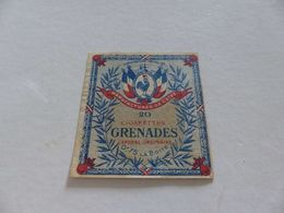 B-83 , Etiquettes Cigarettes, Tabacs,  20 Cigarettes Grenades Caporal Ordinaire, 0F75 La Boite - Around Cigarettes