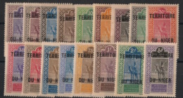Niger - 1921-22 - N°Yv. 1 à 17 - Série Complète - Neuf Luxe ** / MNH / Postfrisch - Unused Stamps