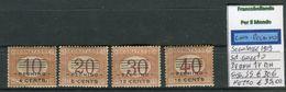 Italia Uffici Postali All'estero Set Segnatasse Soprastampate Pechino MNH/MH 1919 Sassone S5 - 11. Foreign Offices