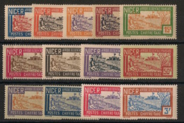 Niger - 1927 - Taxe TT N° Yv. 9 à 21 - Série Complète - Neuf Luxe ** / MNH / Postfrisch - Unused Stamps