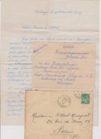 LETTRE DU 02 01 1940 DEPART AUNOYE AYMERIE   (NORD) Pour PARIS - 1939-45