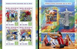 Salomon 2016, Paralimpic Games, Tennis, Atlethic, Football, Swimming, 4val In BF +BF - Verano 2016: Rio De Janeiro