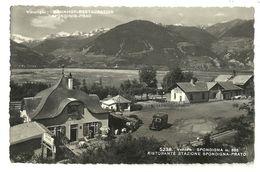 """8564 """"VENOSTA-SPONDIGNA-RISTORANTE STAZIONE SPONDIGNA PRATO """"CORRIERA ANNI'40-CARTOLINA POSTALE ORIGINALE NON SPEDITA - Bolzano (Bozen)"""
