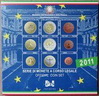 ITX2011.1 - COFFRET BU ITALIE - 2011 - 1 Cent à 2 € + 2 € 150 Ans Unification Italienne - Italie