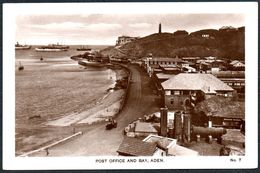 D7883 - TOP Aden - Post Office And Bay - Schiffe Hafen Dampfer - Yémen