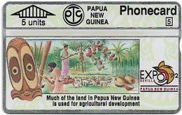 Papua New Guinea - Telikom - L&G - Agricultural Development - 203A - 05.1992, 5U, 16.000ex, Mint - Papouasie-Nouvelle-Guinée