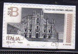 ITALY REPUBLIC ITALIA REPUBBLICA 2016 PIAZZE D'ITALIA PIAZZA DEL DUOMO DI MILANO B Gr. 50 USATO USED OBLITERE' - 6. 1946-.. Repubblica