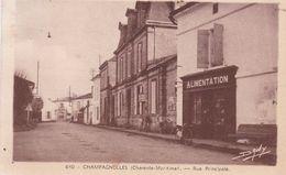 17 / CHAMPAGNOLLES / RUE PRINCIPALE / ALIMENTATION / CIRC 1952 - Autres Communes