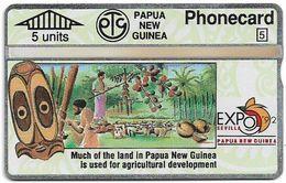 Papua New Guinea - Telikom - L&G - Agricultural Development - 209C - 05.1992, 5U, 12.000ex, Mint - Papouasie-Nouvelle-Guinée