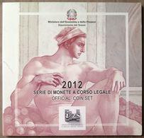 ITX2012.2 - COFFRET BU ITALIE - 2012 - 1 Cent à 2 € + 2 € 10 Ans De L'Euro + 5 € Chapelle Sixtine - Italie