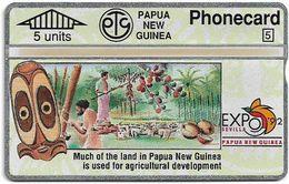 Papua New Guinea - Telikom - L&G - Agricultural Development - 306D - 01.1993, 5U, 20.000ex, Mint - Papouasie-Nouvelle-Guinée