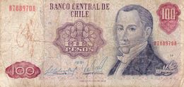CHILE 100 PESOS 1981  P-152b6 Circ - Chile