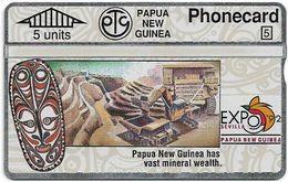 Papua New Guinea - Telikom - L&G - Mineral Wealth - 203A - 05.1992, 5U, 16.000ex, Mint - Papouasie-Nouvelle-Guinée