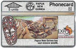 Papua New Guinea - Telikom - L&G - Mineral Wealth - 209C - 05.1992, 5U, 12.000ex, Mint - Papouasie-Nouvelle-Guinée