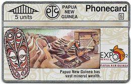 Papua New Guinea - Telikom - L&G - Mineral Wealth - 306D - 01.1993, 5U, 20.000ex, Mint - Papouasie-Nouvelle-Guinée