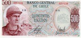 CILE 500 ESCUDOS 1971  P-145a1  UNC - Chile