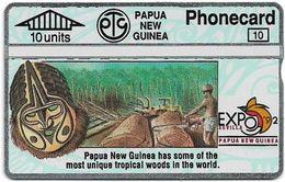 Papua New Guinea - Telikom - L&G - Tropical Woods - 203A - 05.1992, 10U, 12.000ex, Mint - Papouasie-Nouvelle-Guinée