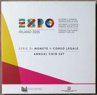 ITX2015.1 - COFFRET BU ITALIE - 2015 - 1 Cent à 2 € + 2 € Expo Milano - Italie