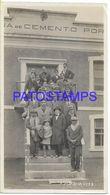 136686 ARGENTINA OLAVARRIA SIERRAS BAYAS FABRICA D CEMENTO & PEOPLE YEAR 1931 PHOTO NO POSTAL POSTCARD - Fotografía