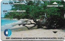 São Tomé And Príncipe - CST - L&G - Tamarinds Beach - 911L - 240U, 4.000ex, Used - San Tomé E Principe