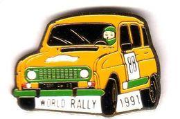 Pin's   Automobile Renault 4 World Rally 1991 - Renault