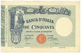 50 LIRE BARBETTI GRANDE L MATRICE LATERALE TESTINA FASCIO 12/12/1934 BB/SPL - [ 1] …-1946 : Royaume