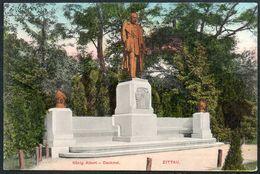 D7887 - Zittau - Denkmal König Albert - Verlag Hermann Seibt Meissen - Feldpost 1. WK WW - Monumentos
