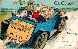 """Carte 1920 Ouvrez La Malle Vous Verrez Bressuire """"ça Gaze"""" (pas De Dépliant) - Bressuire"""