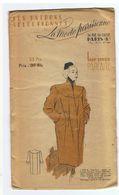 Manteau Vogue En Souple Lainage Tilleul Les Patrons Sélectionnés De La Mode Parisienne Année 1930 - Patterns