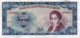 CILE 100 ESCUDOS 1962  P-141a1  XF++AUNC - Chile