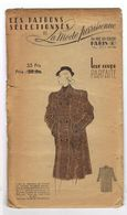 Manteau De Voyage En Chevron Beige Et Marron Les Patrons Sélectionnés De La Mode Parisienne Année 1930 - Patrons