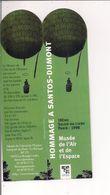 Marque-Pages  -   Hommage à  SANTOS-DUMONT   Musée De L'Air Et De L'Espace  1998 - Lesezeichen