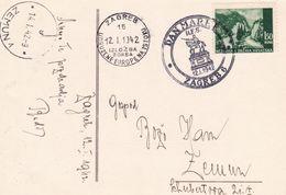 CROATIA WW II, ZAGREB 1942 Nice Postcard STAMP DAY To ZEMUN - Kroatië