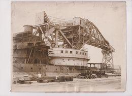 WORLD FLOATING DERRICK PHILADELPHIA NAVY YARD FLOATING CRANE USS KEARSARGE  25*20 Cm Fonds Victor FORBIN (1864-1947) - Barcos
