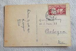 Cartolina Illustrata Andorra Per Bologna 1951 - Andorre Français