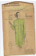 Manteau Vague En Chevron Pastel  Les Patrons Sélectionnés De La Mode Parisienne Année 1930 - Patrons