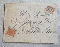Busta Di Lettera Tassata Da Roma Per Ascoli Piceno 05/08/1892 - 1878-00 Humbert I.