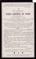 Sint-Martens-latem, De Pinte, 1914, Karel De Paepe, Vlerick - Andachtsbilder