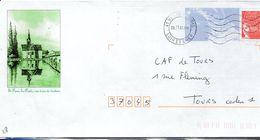 Enveloppe Touristique, Eure Et Loir, St Denis Les Ponts, Postée à Vendôme 41 - Poststempel (Briefe)